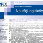 Newsletterul de fiscalitate APEX